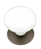 Emtek Ice White Wardrobe Knob