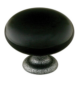 Emtek Madison Black Cabinet Knob