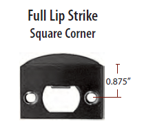 Emtek Full Lip Square Strikeplate