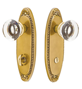 Emtek Thumbturn Oval Beaded Plate Lock